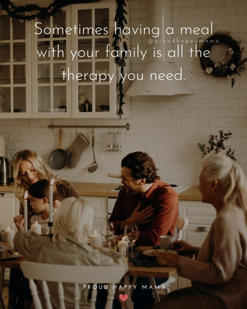 Friends Are Family Quotes | Sometimes having a meal with your family is all the therapy you need.