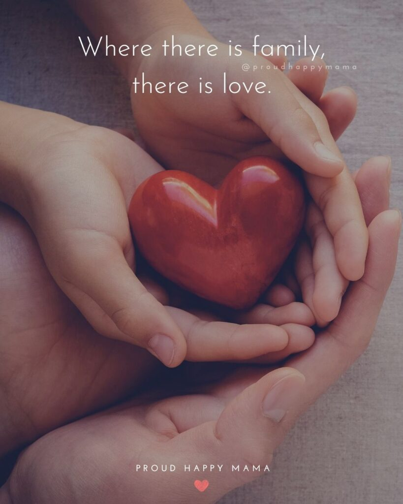 Quotes About Love Of Family | Where there is family, there is love.