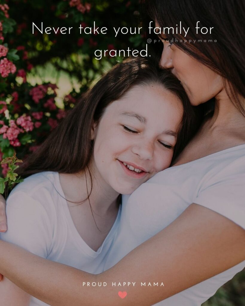 Quotes For Happy Family | Never take your family for granted.