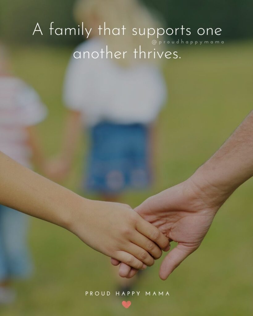Quotes For Love Of Family | A family that supports one another thrives.