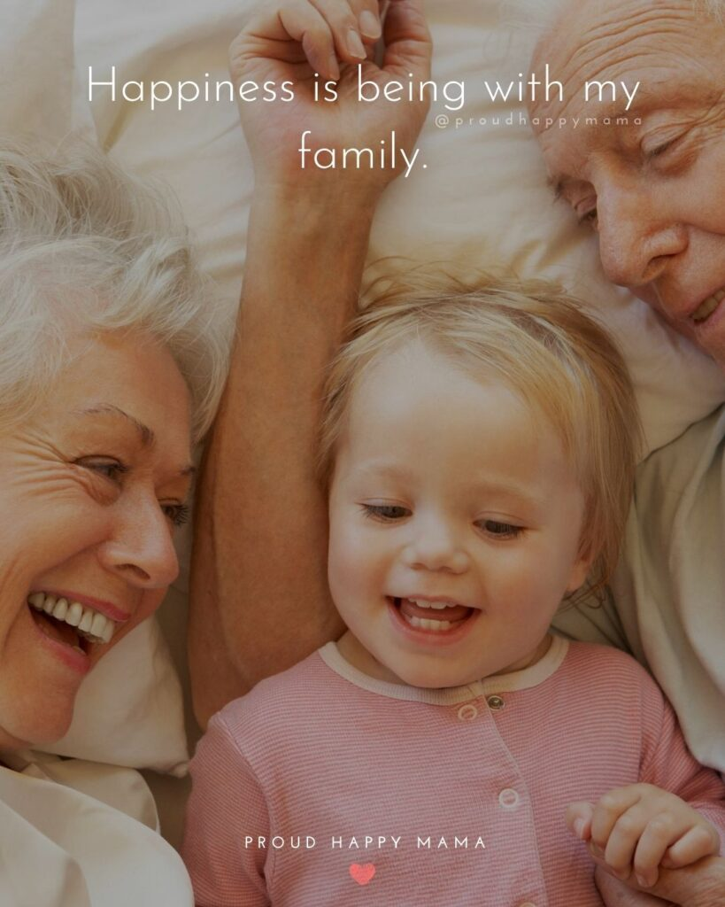 Quotes For Loving Family | Happiness is being with my family.