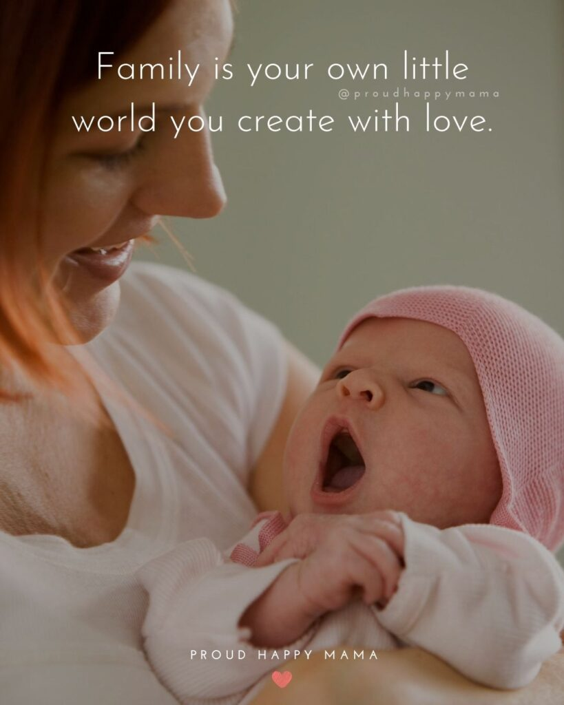 Quotes On Family Love | Family is your own little world you create with love.