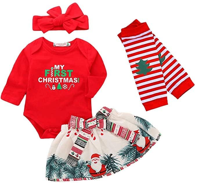 Baby's First Christmas Outfit Girl | Best Baby Christmas Gifts For Baby's First Christmas