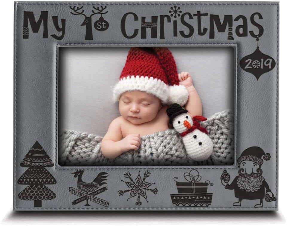 First Christmas Photo Frame  | Best Baby Christmas Gifts For Baby's First Christmas|