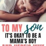 Relationship Between Mother And Son   To My Son: It's OK To Be A Mama's Boy