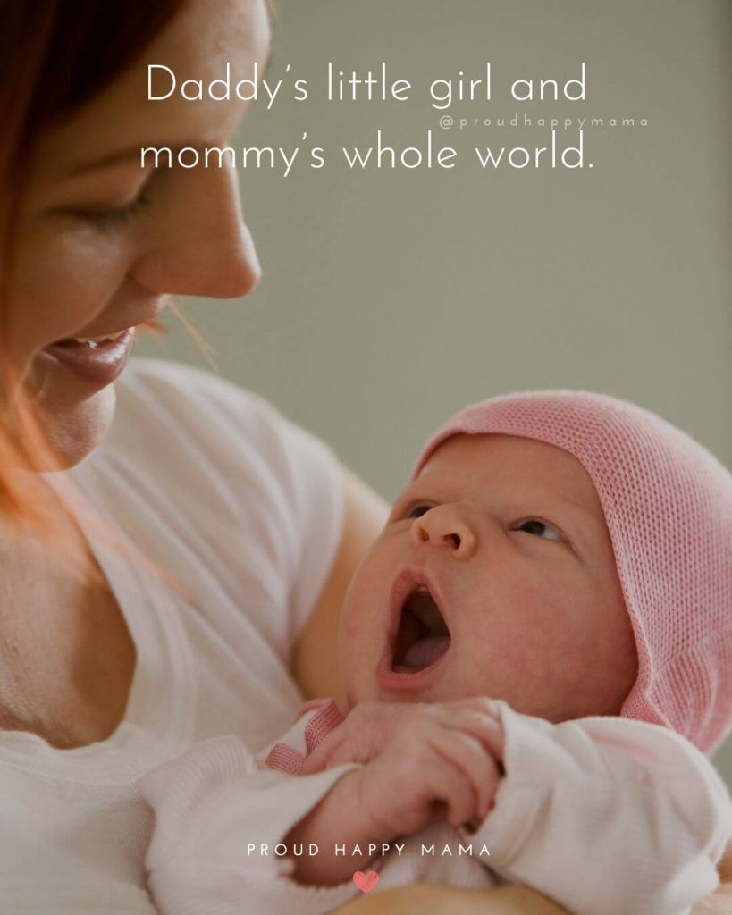 Baby Girl Quotes | Daddy's little girl and mommy's whole world.