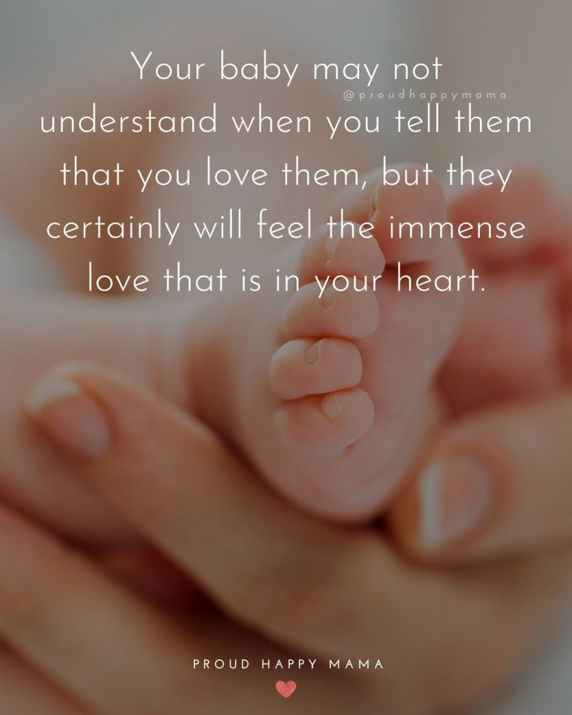 Cute Baby Boy Quotes | Your baby may not understand when you tell them that you love them, but they certainly will feel the immense love that is in your heart.
