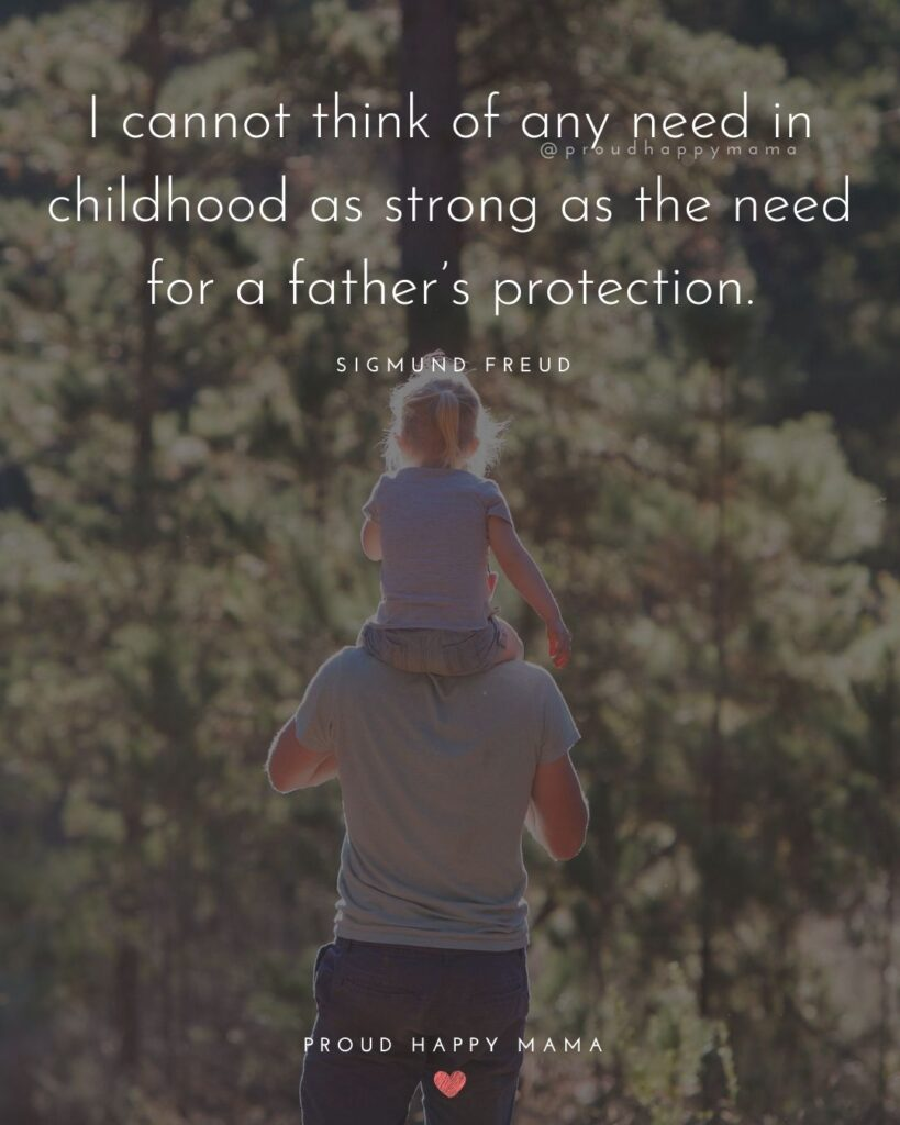 Father Daughter Quotes - I cannot think of any need in childhood as strong as the need for a fathers protection. – Sigmund Freud