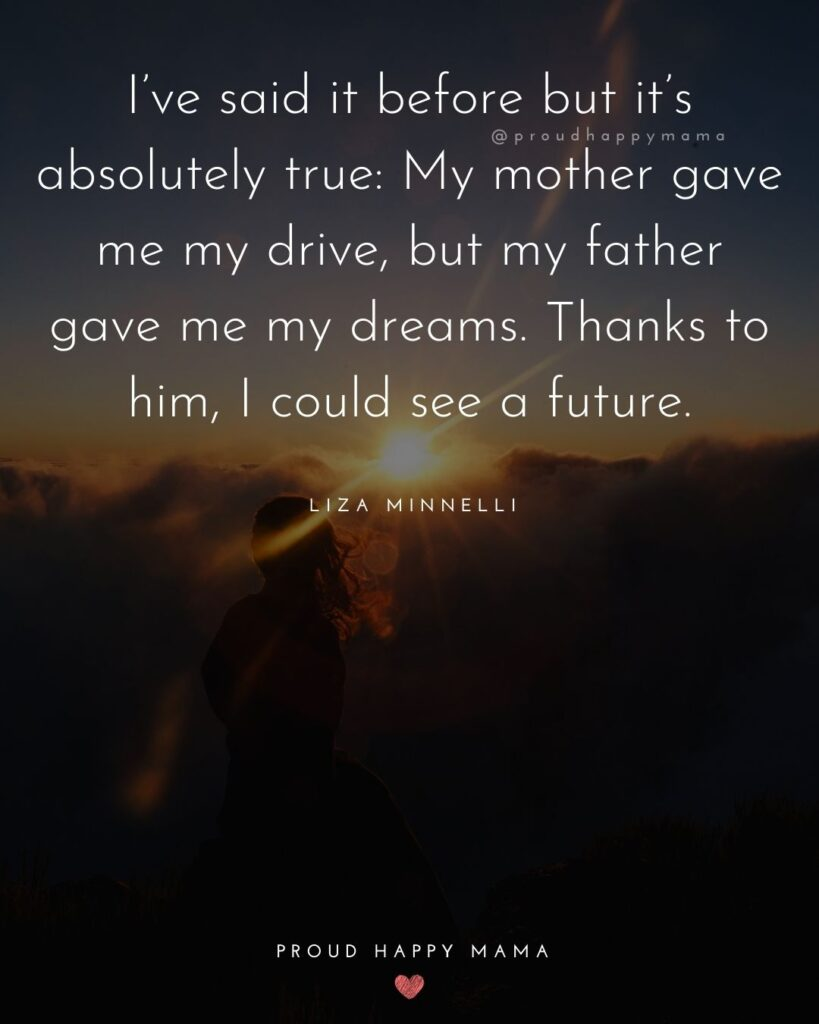 Father Daughter Quotes - Ive said it before but its absolutely true: My mother gave me my drive,