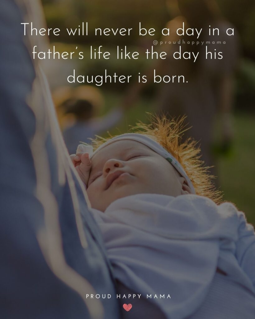 Father Daughter Quotes - There will never be a day in a fathers life like the day his daughter is born.