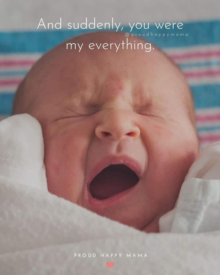Newborn Quotes | And suddenly, you were my everything.