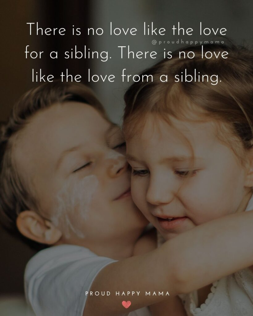 Sibling Quotes - There is no love like the love for a sibling. There is no love like the love from a sibling.'