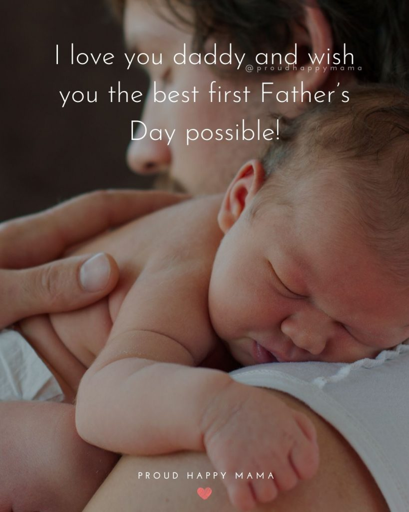 Fathers Day Message | I love you daddy and wish you the best first Father's Day possible!