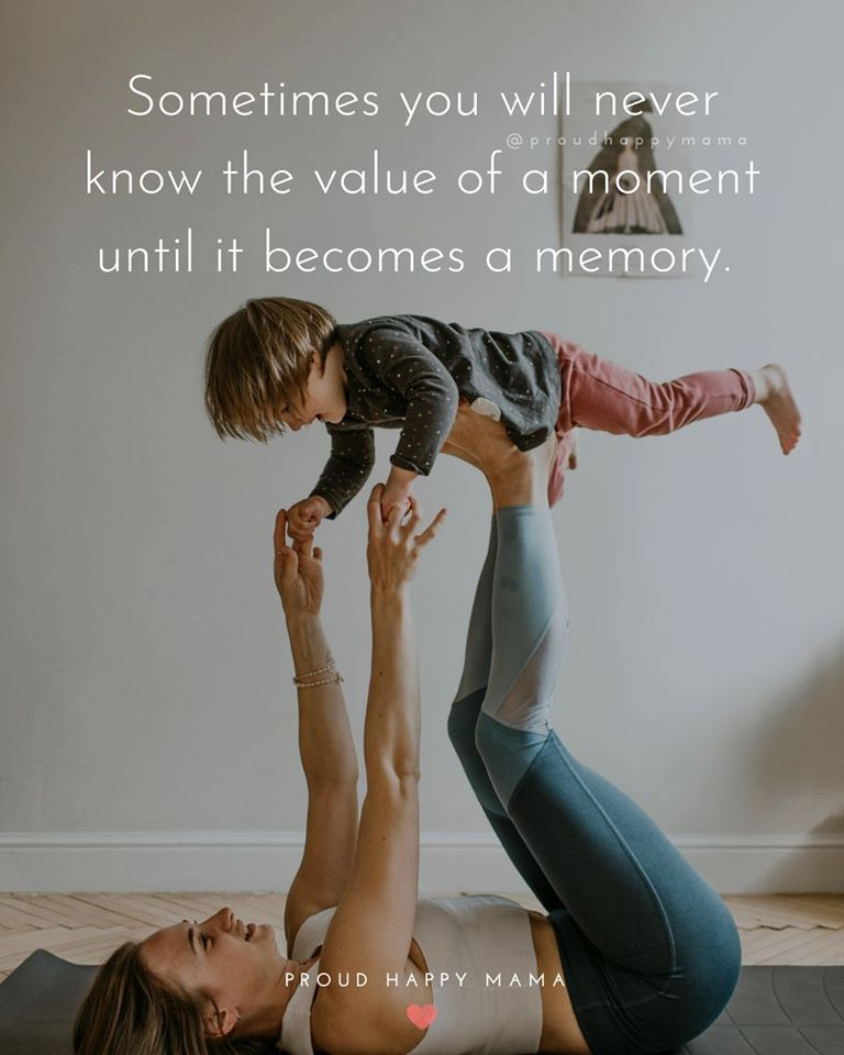 Mom And Dad Quotes | Sometimes you never know the value of a moment until it becomes a memory.