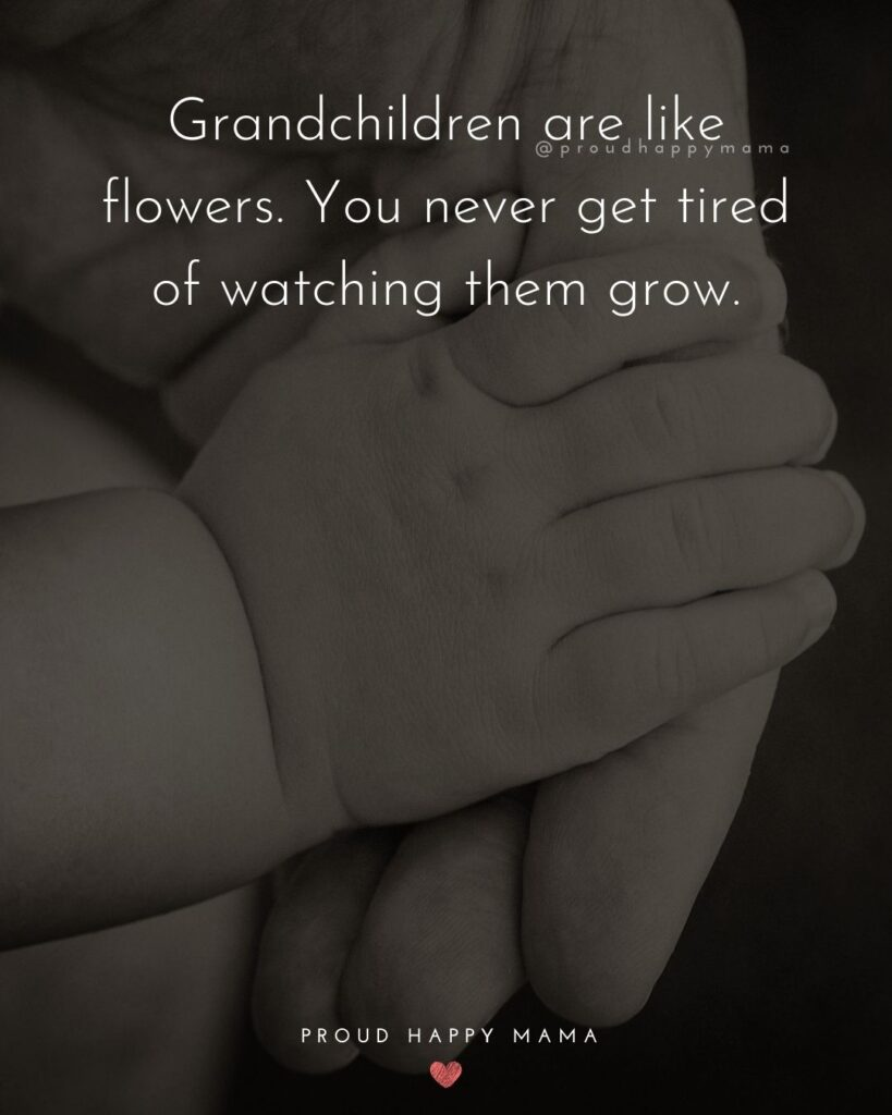 Grandparent | Grandchildren are like flowers. You never get tired of watching them grow.