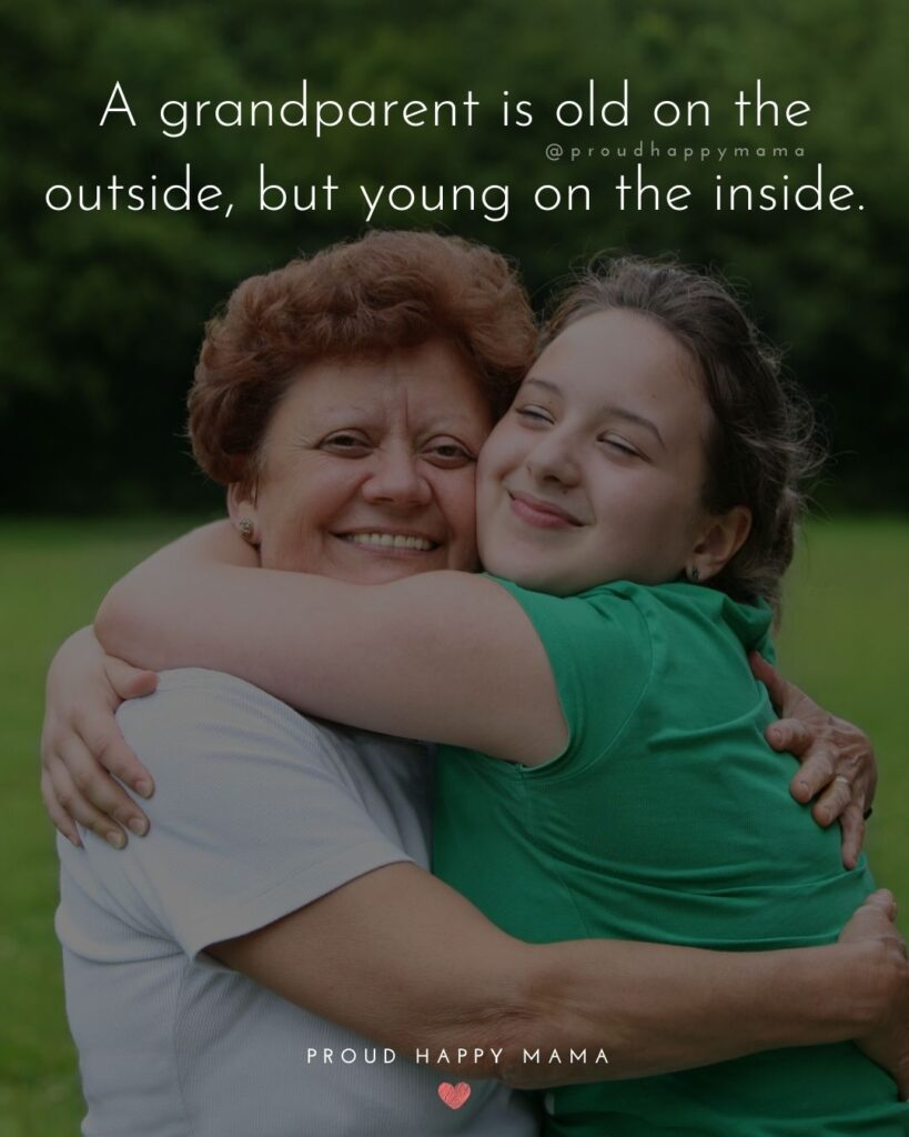 Grandparent Quotes – A grandparent is old on the outside, but young on the inside.'