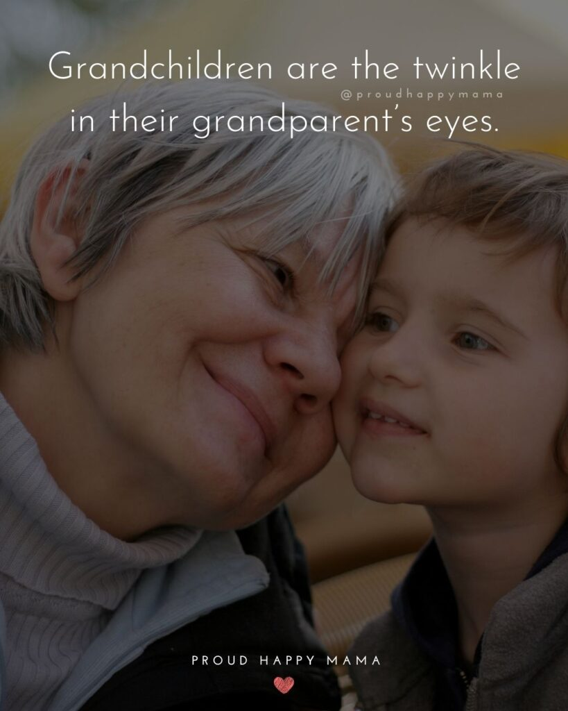 Grandparent Quotes – Grandchildren are the twinkle in their grandparent's eyes.'