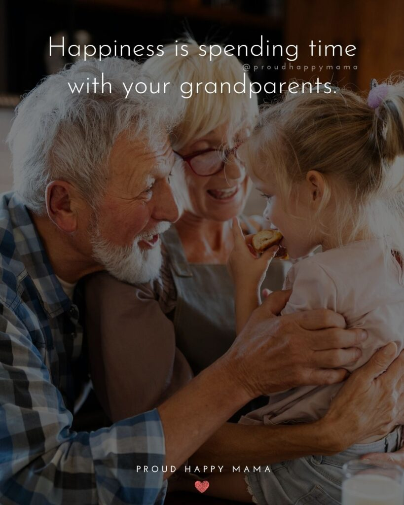 Grandparent Quotes – Happiness is spending time with your grandparents.'