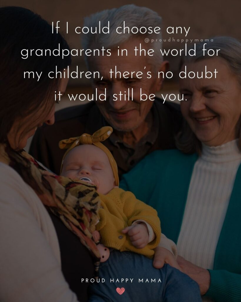 Grandparent Quotes – If I could choose any grandparents in the world for my children, there's no doubt it would still be you.'