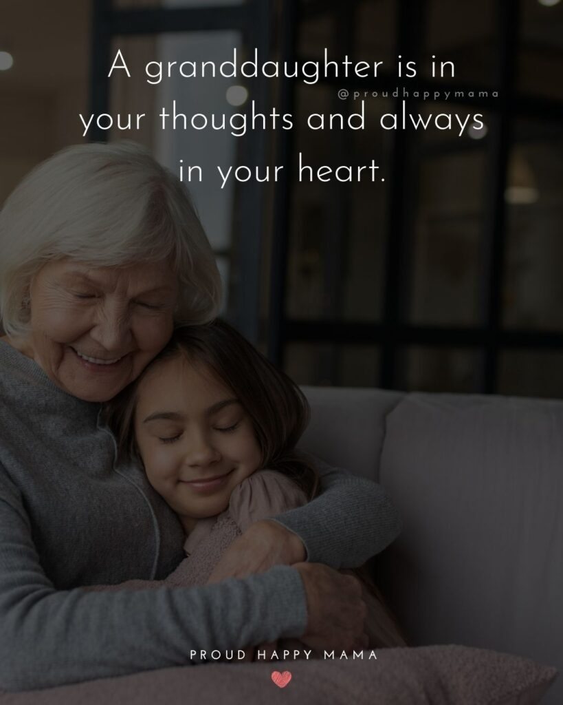 Granddaughter Quotes - A granddaughter is in your thoughts and always in your heart.