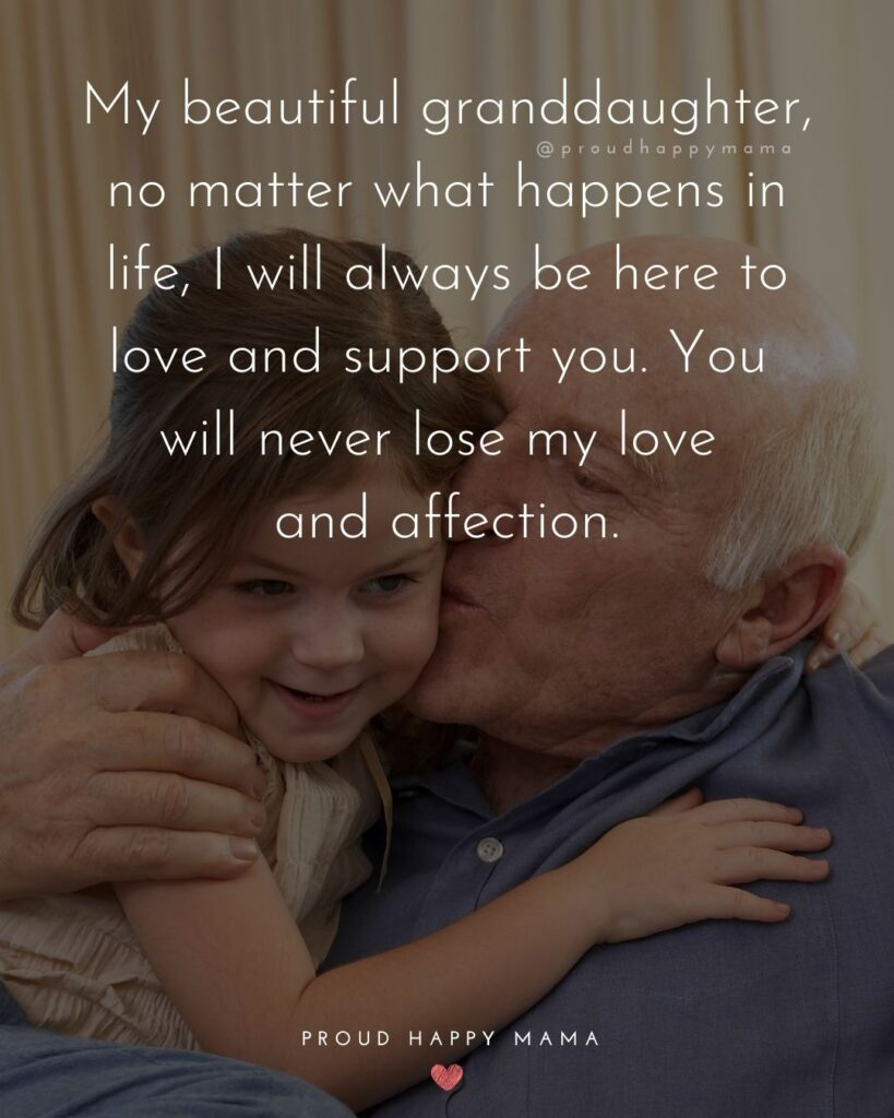 Granddaughter Quotes - My beautiful granddaughter, no matter what happens in life, I will always be here to love and support