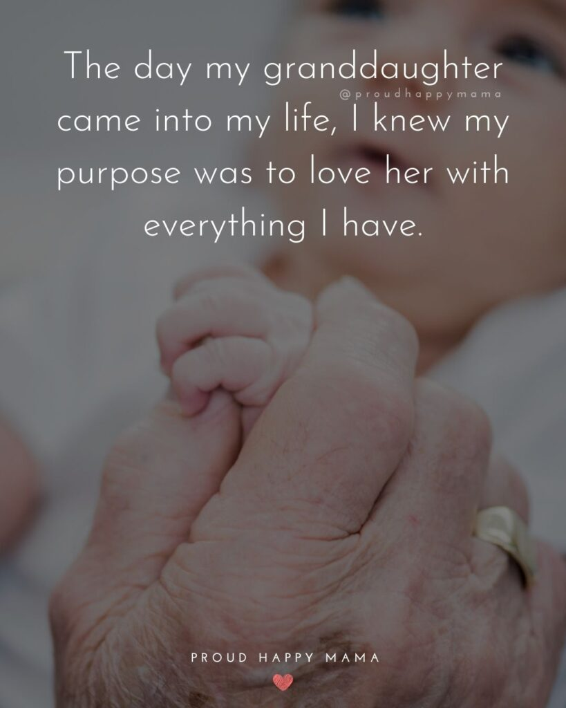 Granddaughter Quotes - The day my granddaughter came into my life, I knew my purpose was to love her with everything I have.