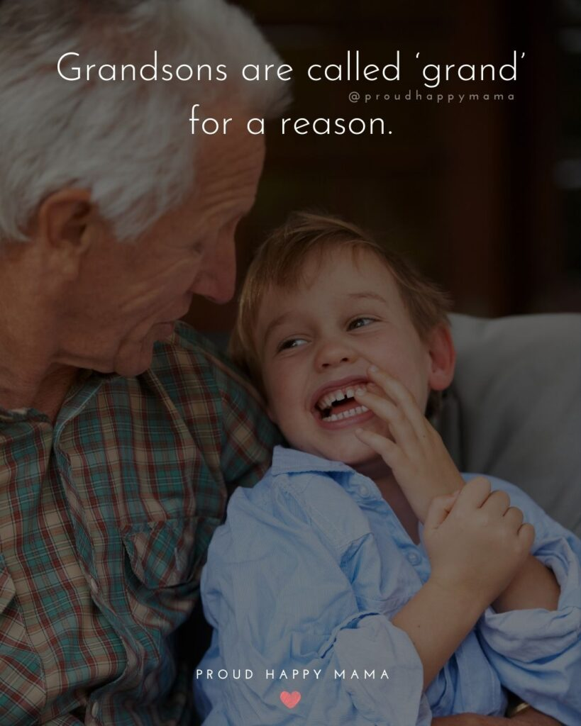 Grandson Quotes - Grandsons are called grand for a reason.