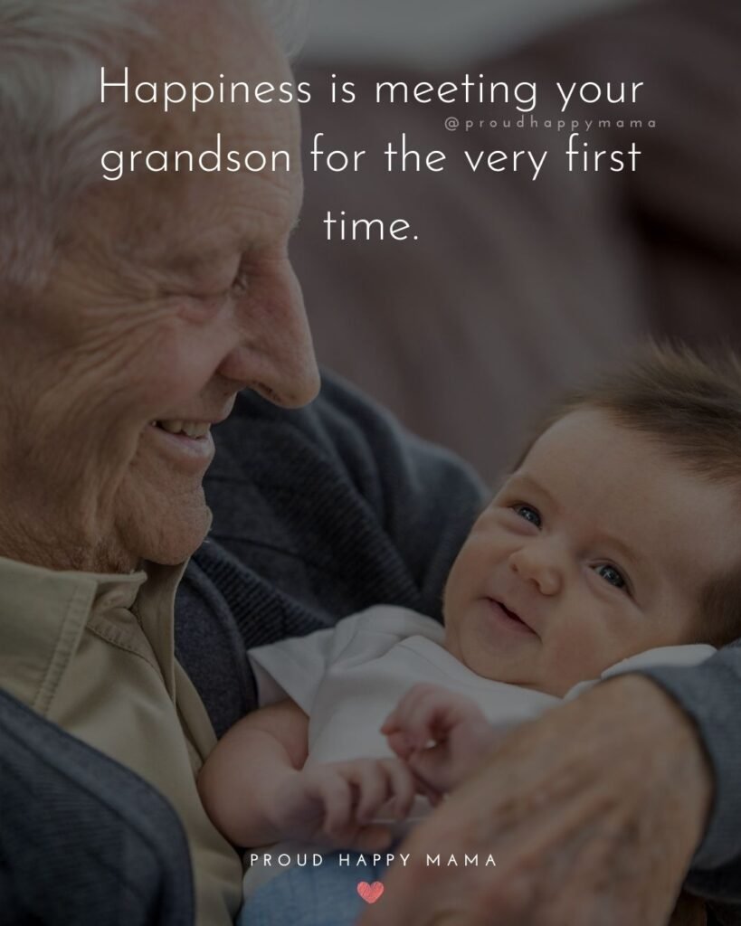 Grandson Quotes - Happiness is meeting your grandson for the very first time.