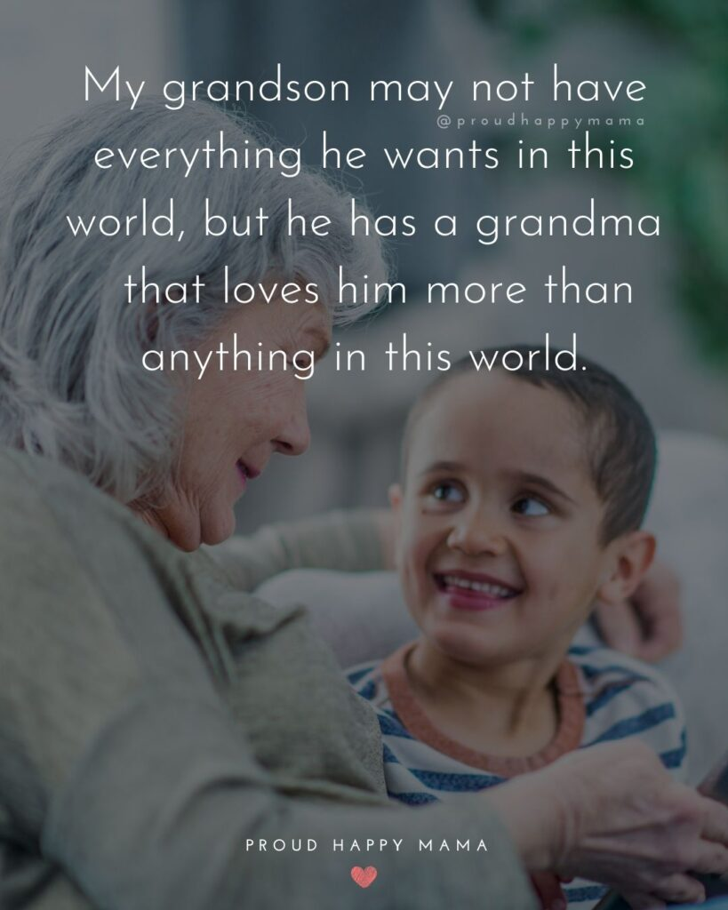 Grandson Quotes - My grandson may not have everything he wants in this world, but he has a grandma that loves him more than anything in this world.