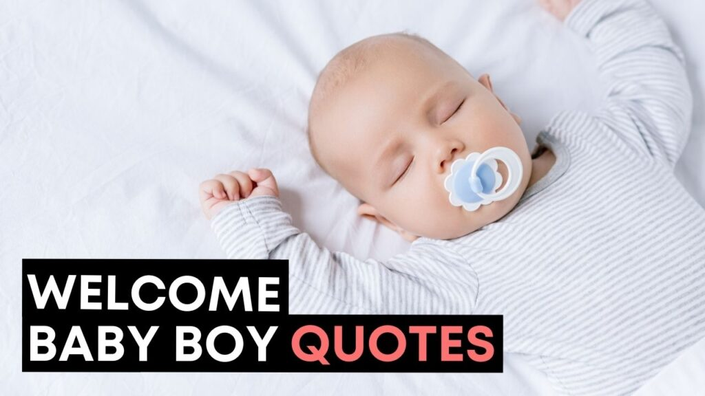 Welcome Baby Boy Quotes - YouTube Video Cover