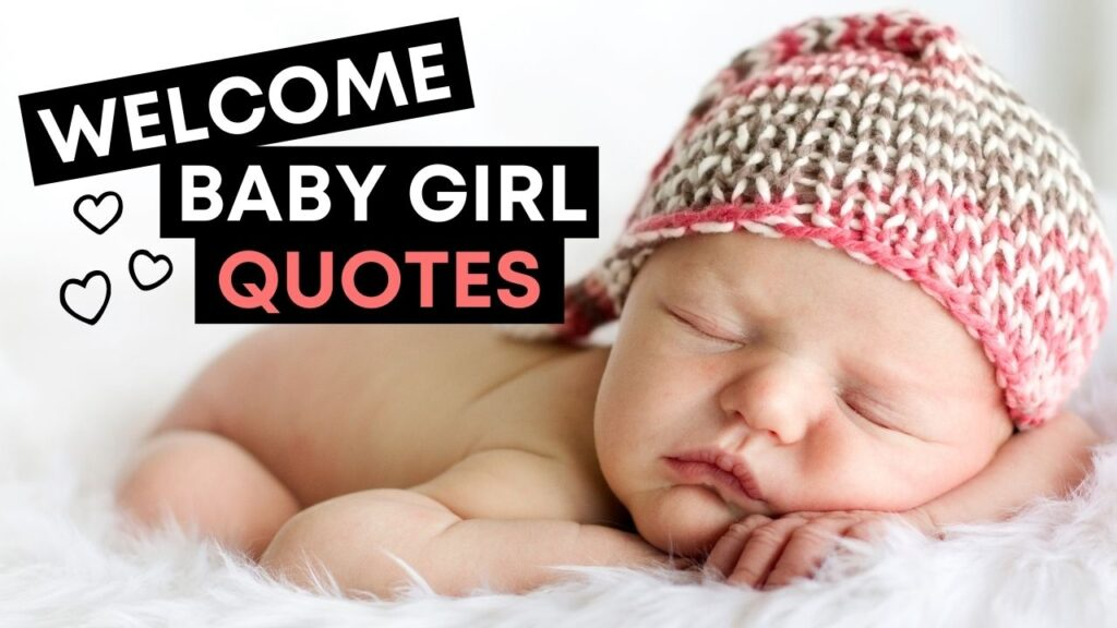 Welcome Baby Girl Quotes - YouTube Video Cover