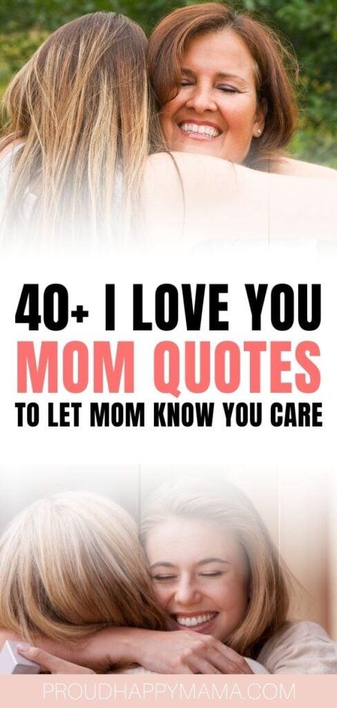 I Love You Mom - Post Pin