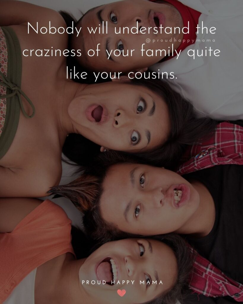 Cousin Quotes - Nobody will understand the craziness of your family quite like your cousins.