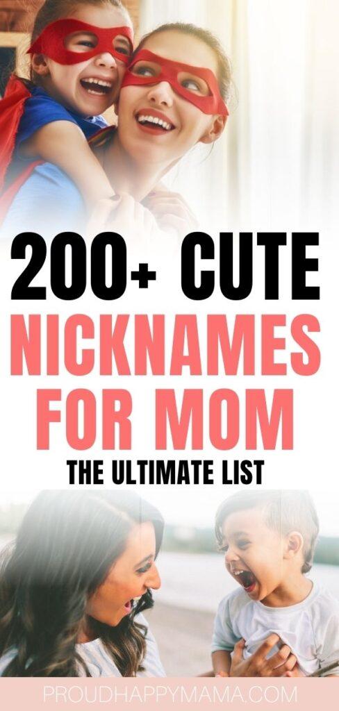 Nicknames For Mom