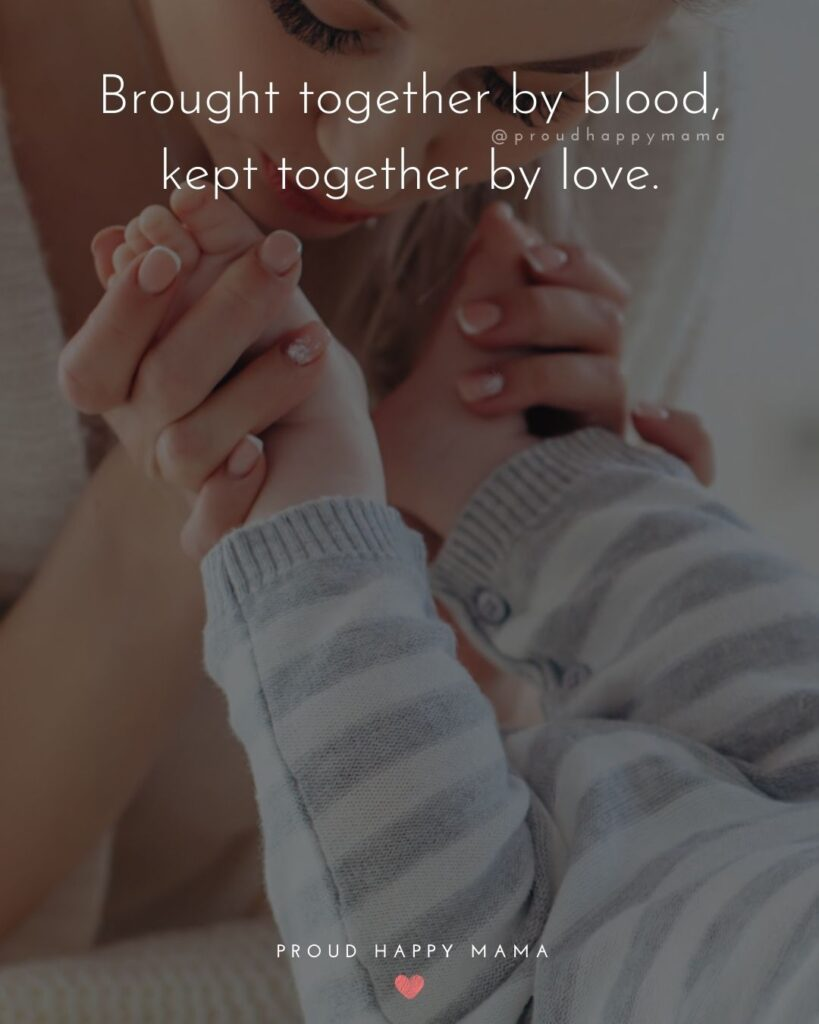 Quotes About Becoming An Aunt - Brought together by blood, kept together by love.
