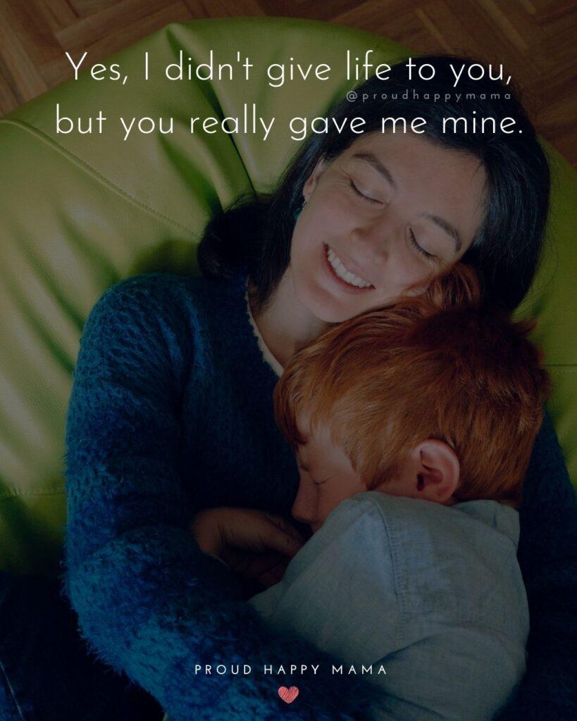 Stepmom Quotes - Yes, I didn't give life to you, but you really gave me mine.