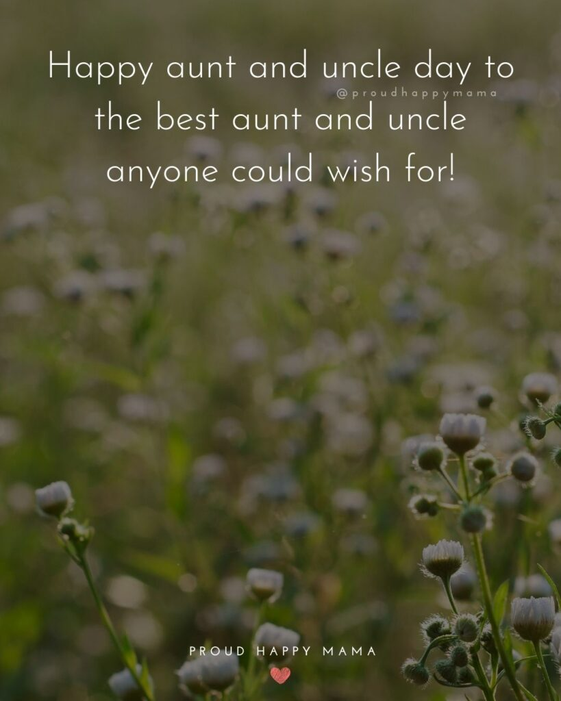 Aunt And Uncle Day Quotes - Happy aunt and uncle day to the best aunt and uncle anyone could wish for!