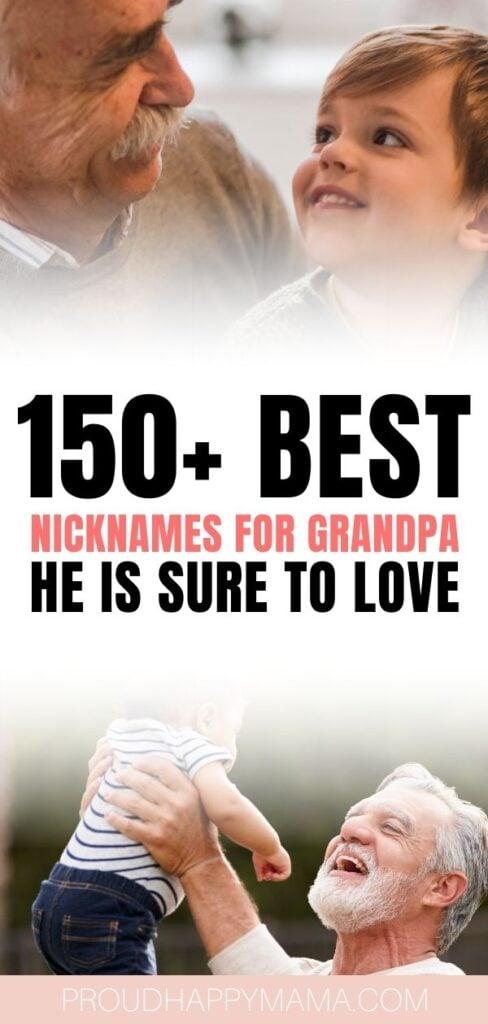 Best Grandpa Nicknames