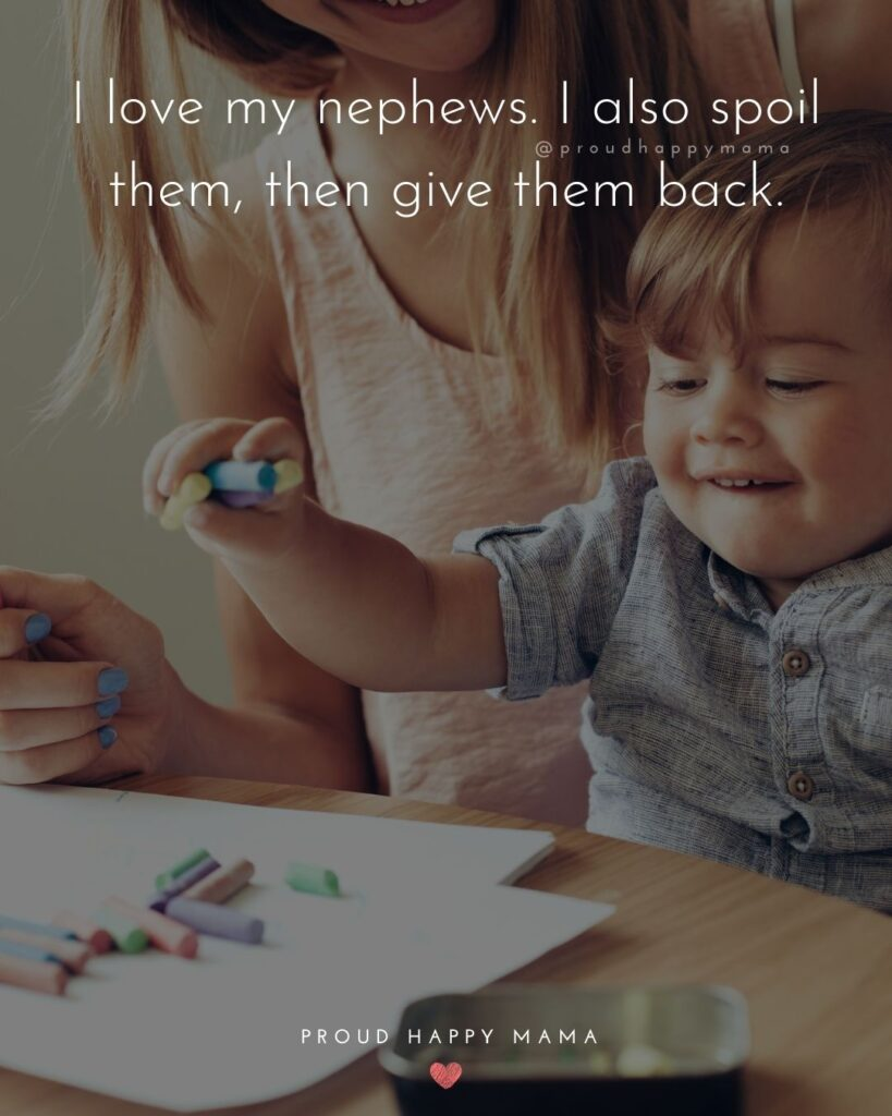 Nephew Quotes - I love my nephews. I also spoil them, then give them back.