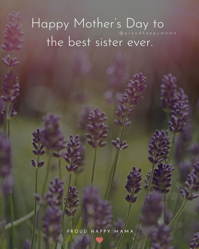 Happy Mothers Day Sister Quotes - Happy Mother's Day to the best sister ever.'