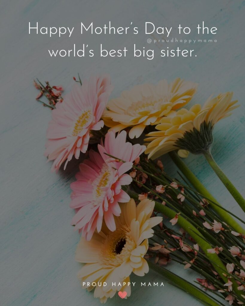 Happy Mothers Day Sister Quotes - Happy Mothers Day to the world's best big sister.