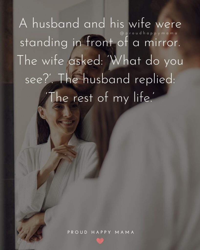 Husband and Wife Quotes - A husband and his wife were standing in