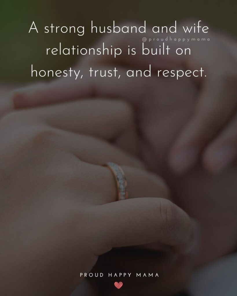 Husband and Wife Quotes - A strong husband and wife relationship is built on honesty, trust, and respect.