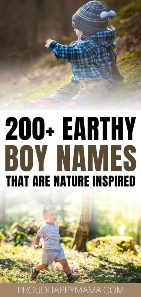 Strong Earthy Boy Names