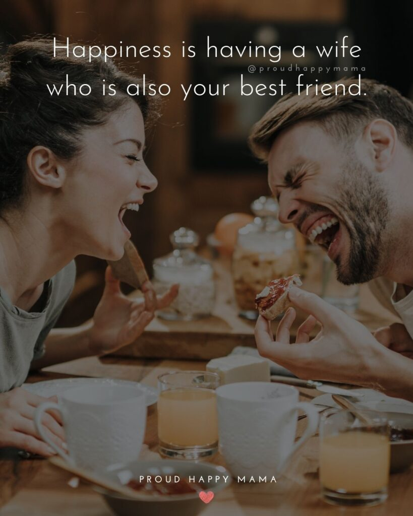 Wife Quotes - Happiness is having a wife who is also your best friend.