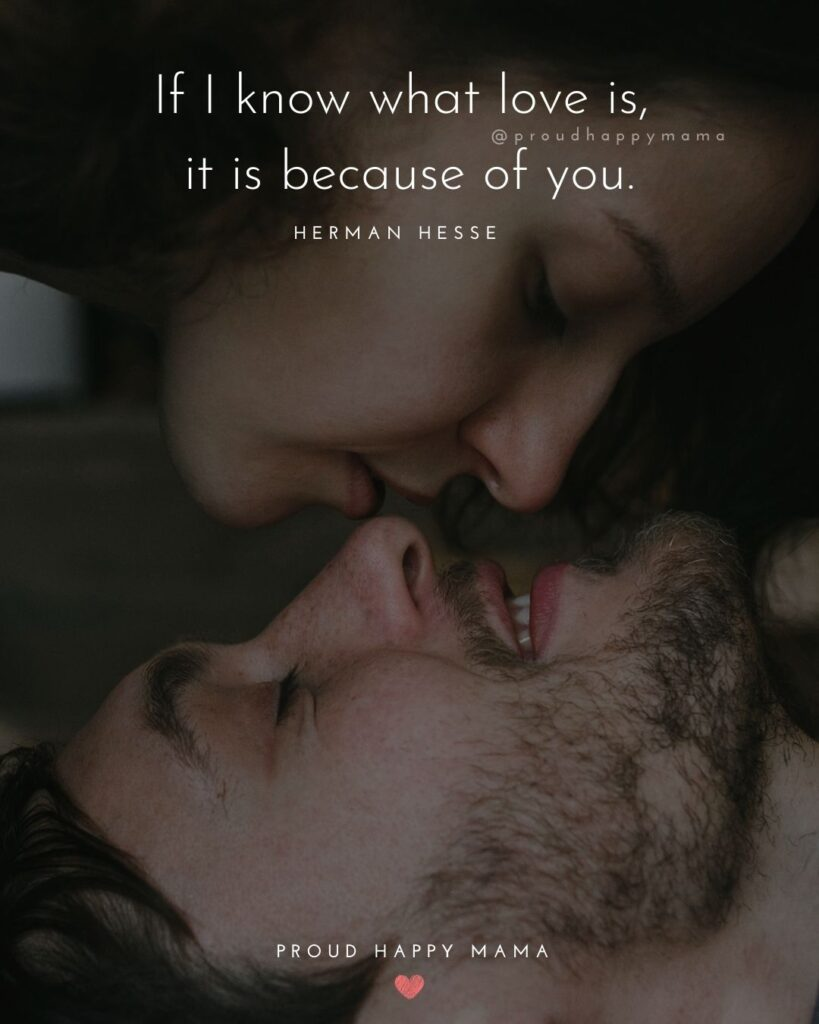 Wife Quotes - If I know what love is, it is because of you. – Herman Hesse