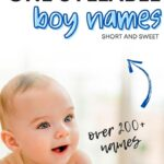one syllable boy names list