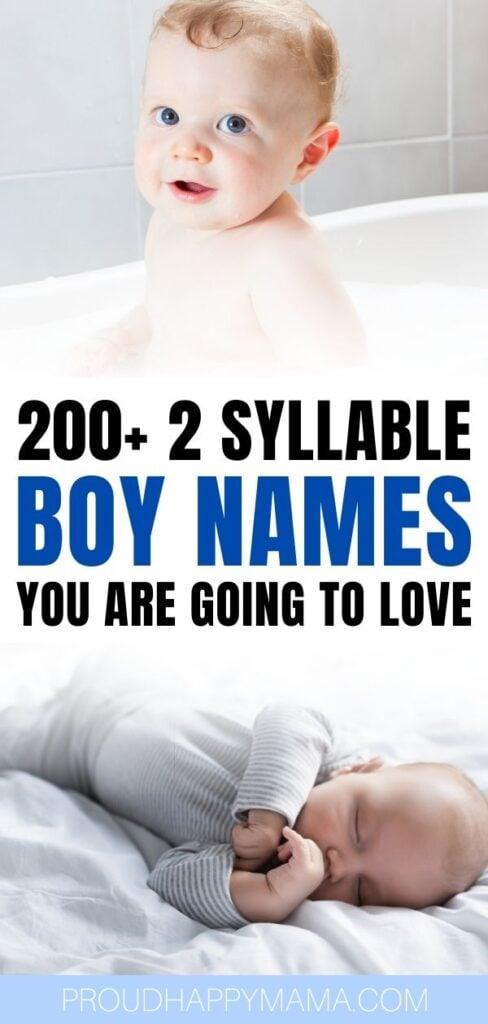 2 syllable boy names