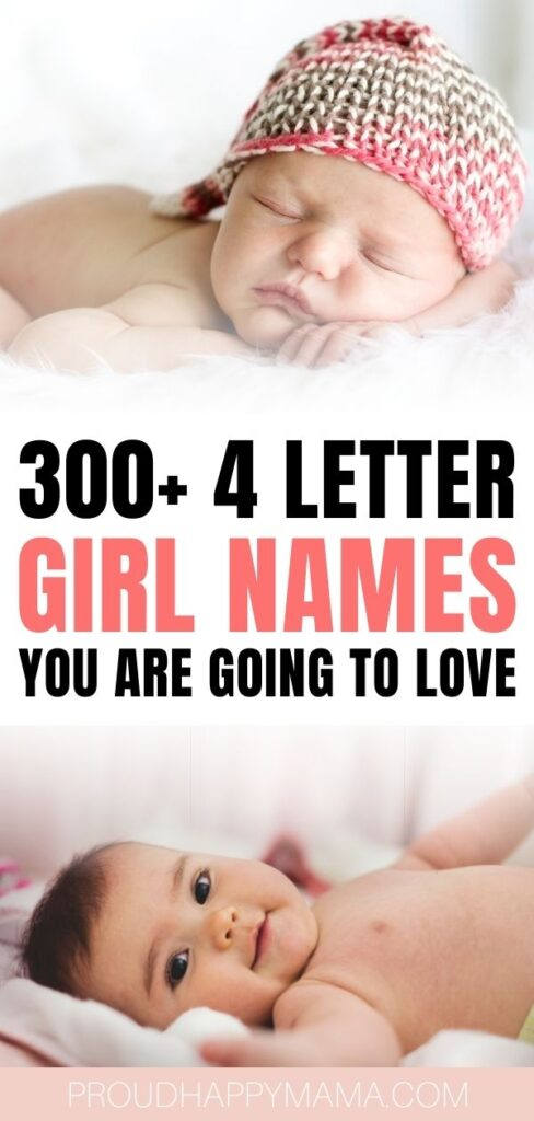 4 Letter Girl Names - Unique