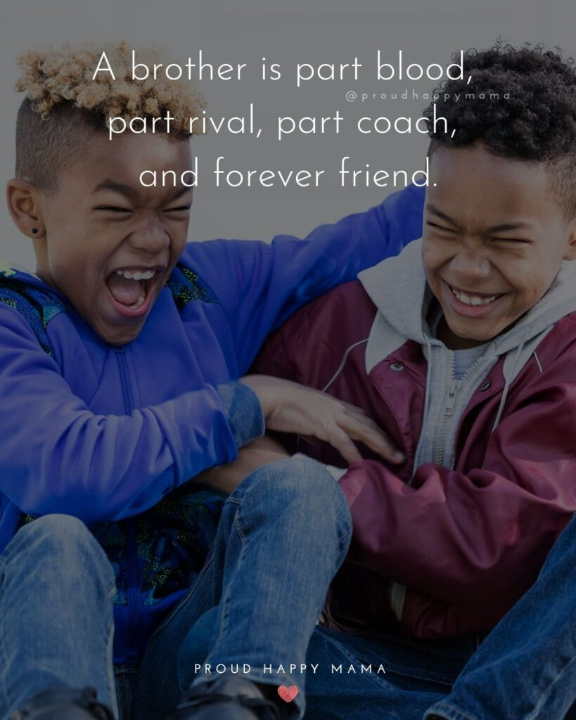 Brother Quotes - A brother is part blood, part rival, part coach, and forever friend.'